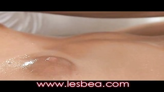Lesbea oiled teen orgasms from powerful clitoral and G-spot massage