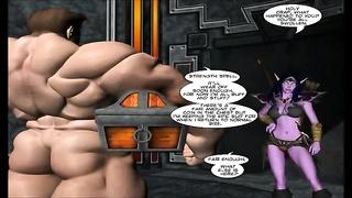 3D Comic: World of Neverquest. scene 9