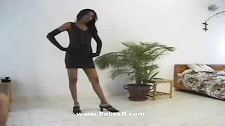 Indian honey  obedient time with white shaft