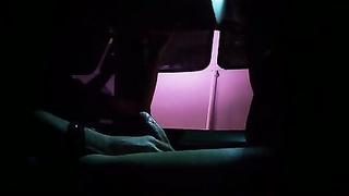 41616Exhibicionismo desde el carro al camion autobus