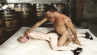 horse sausage daddy tears up blond twink bf