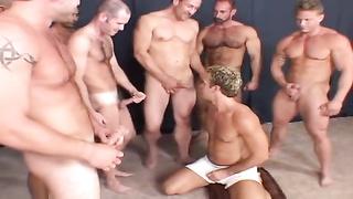 Orgy bareback