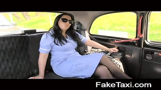 FakeTaxi - horny nurse loves a large shaft