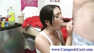 Campus bitches loves her explosion at a party