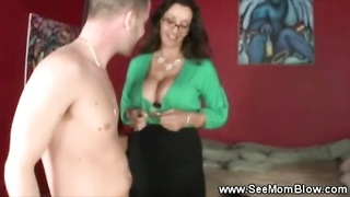 huge-titted beautiful mom gives daughter the details on honest dicksucking