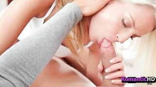 fabulous blowage  from steamy blonde - RomanticHDcom.