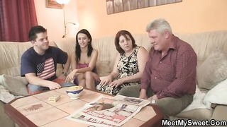 innocent damsel is seduced by her BF's parents