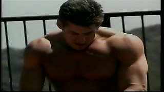 blonde damsel with big tits gets ravaged hard doggy style by muscle boy