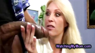 youthfull  petite bookworm and nasty stacked mom seduced by suspended dark dude