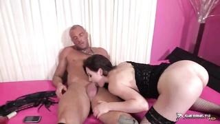 cock hungry Tina Kay deepthroats rock hard jizz-shotgun and gets penetrated