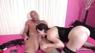 cock hungry Tina Kay deepthroats rock hard jizz-shotgun and gets penetrated