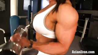 bare labor out with damsel bodybuilder Marina Lopez