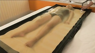 Japanese woman vacbed play