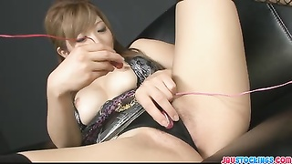 wet dripping asian labia fake penis  packed and blasting