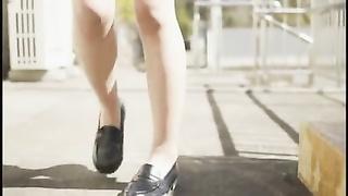 Sneak a scrutinize under the japanese schoolgirls skirts