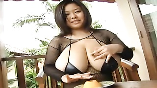huge-chested asian crushes vegetables