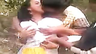 Desi tamil college chick having fun with mates