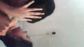 Southindian Mallu Girl's large titties deep-throating by her BF at home