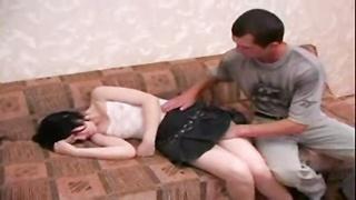 youthful Brunette Sister forced hook-up  By elder Brother