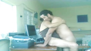 indian inexperienced lovers nawaz and hira sex on a table