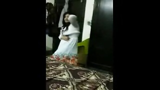 real Pakistani wifey  Dances Before hook-up  With hubby clear Urdu indian cute damsel desi by pornse