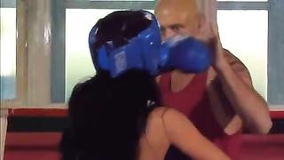 molten Hugarian stunner Bettina pummeling In Boxing Ring