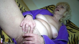 hot young boy  fucking very benign old lady with belt cock