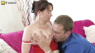 57YO feeble MOM plumbed by her son's mate