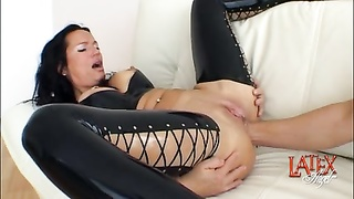 anal fisting and vagina fisting in a double going knuckle deep  session