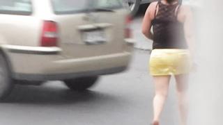 aged in skirt