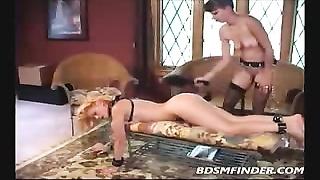 used lesbo Femdom restrain bondage  And Spanking