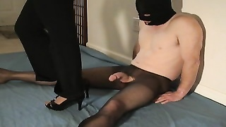 strong nylon solejob taunt