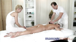 massage Rooms remarkable  Zuzana gets double attention in bisexual