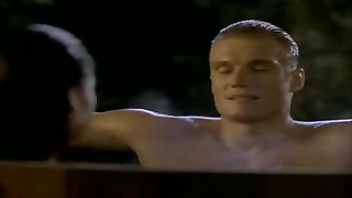 chinese Tia Carrere goes for Dolph Lundgrens large Blond knob