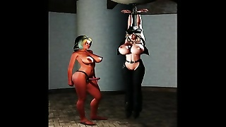 Uncle Sickey is gifted 3d artist and creates arousing BDSM