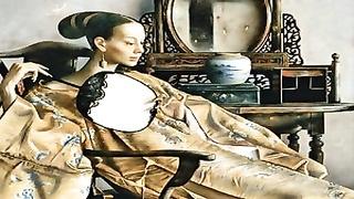 asian chicks and the mirror - Paintings of Lu Jianjun
