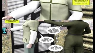 3D Comic: Spermaliens. scene 3