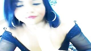 hispanic gives a perfect deep-throat on webcam
