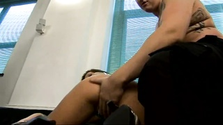 British bitch Cate gets torn up in a FMM threesome