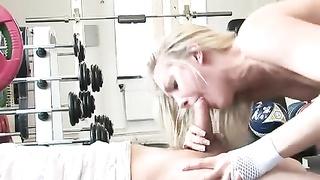 British Angel Long loving 2 cocks at the gym