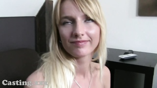 Casting HD petite yellow-haired pulverizes in casting