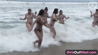 chicks Out West - foul lesbian orgy at the beach