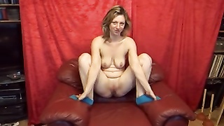 112391Bea-Red Leather Chair