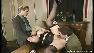 huge-titted German Mom Double nailed