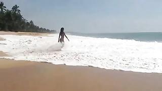 Ukrainian nude hottie Innuska in Sri Lanka two