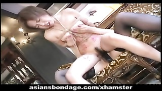 crazy lesbo bdsm activity  with warm Japanese chicks