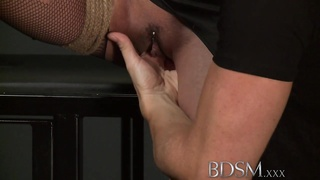 BDSM XXX sub  damsels  with meaty hooters receive hardcore treatmen