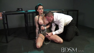 BDSM XXX Feisty slave women memorize the hard blueprint from Masters