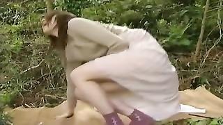 Japanese cunny outdoor bang
