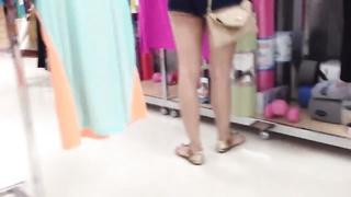 oriental in booty cut-offs